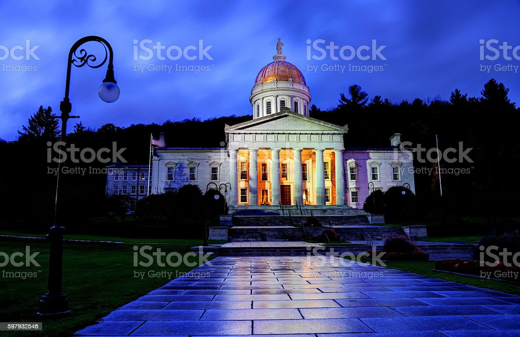 Vermont State House in Montpelier stock photo