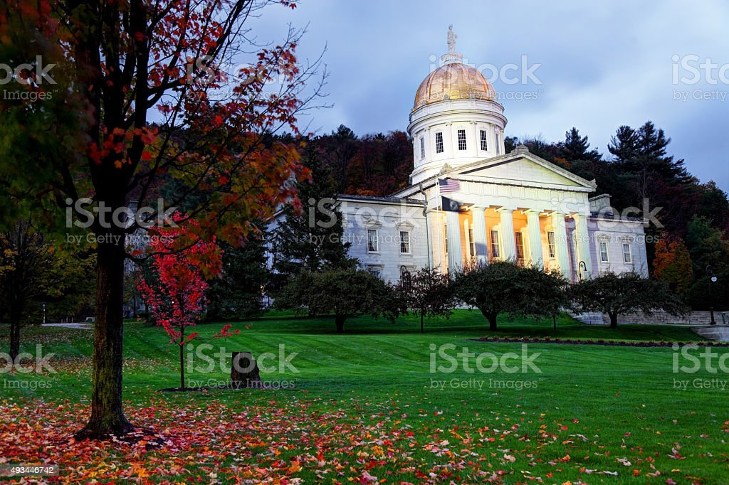 Vermont State House located in Montpelier stock photo