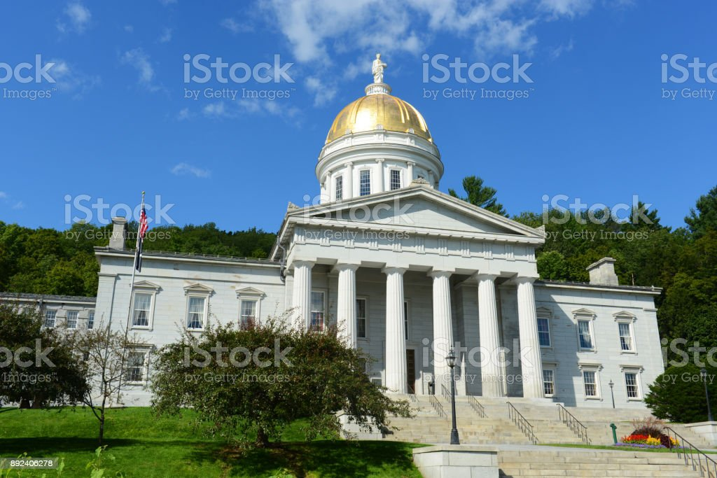 Vermont State House, Montpelier, VT, USA stock photo