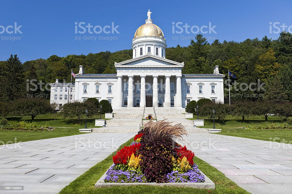 Vermont State House stock photo