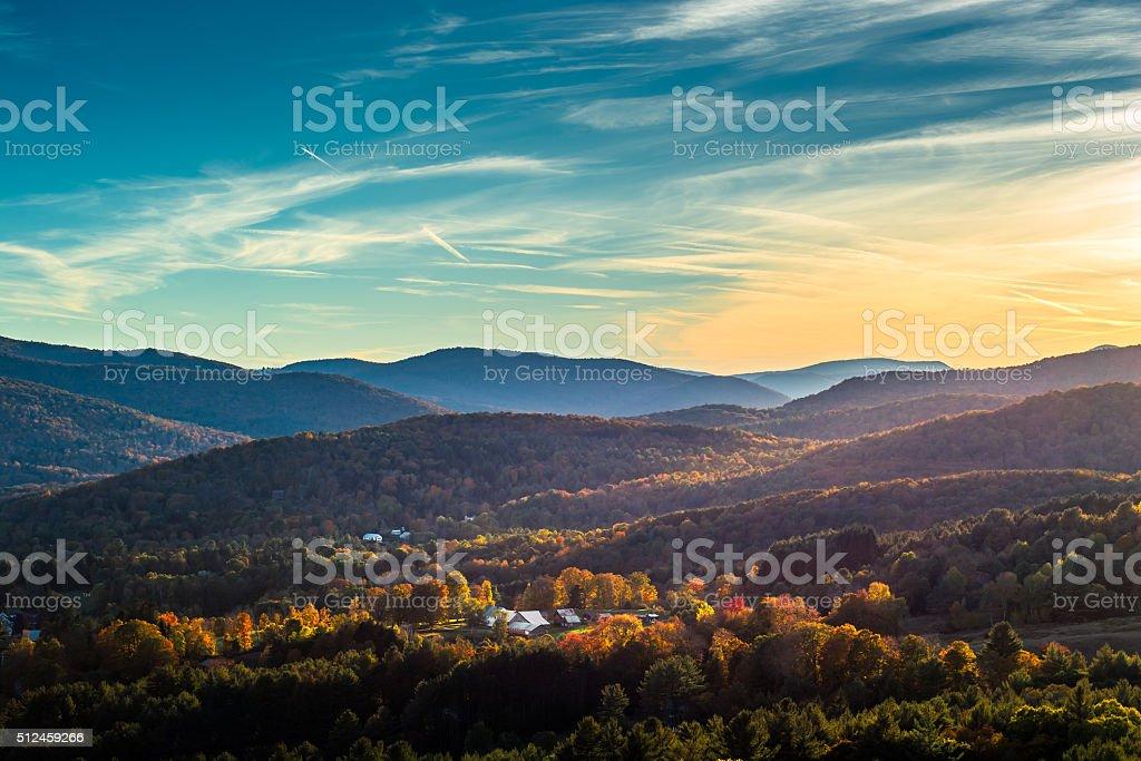 Vermont_overWoodstock stock photo