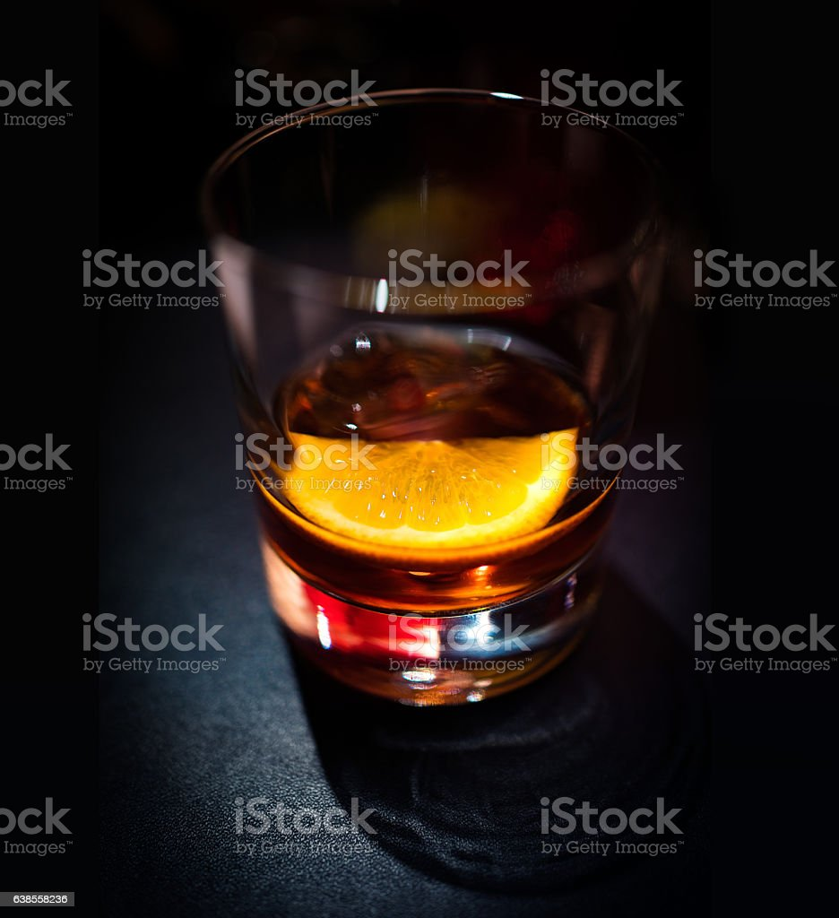 Vermouth aperitif cocktail stock photo