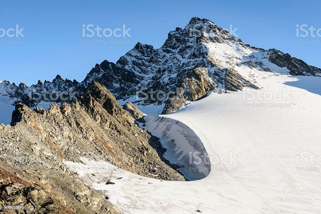 Vermunt Glacier, Dreiländerspitze royalty-free stock photo