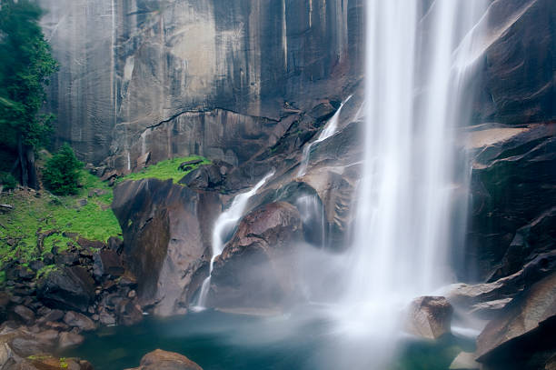 Vernal Falls in Summer stock photo