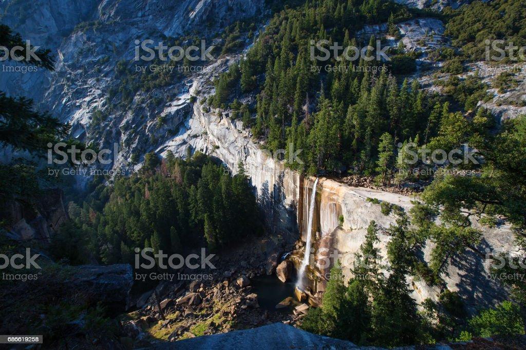 Vernal falls in Yosemite national park, California, USA royalty-free stock photo