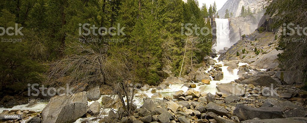 Vernal waterfall royalty-free stock photo