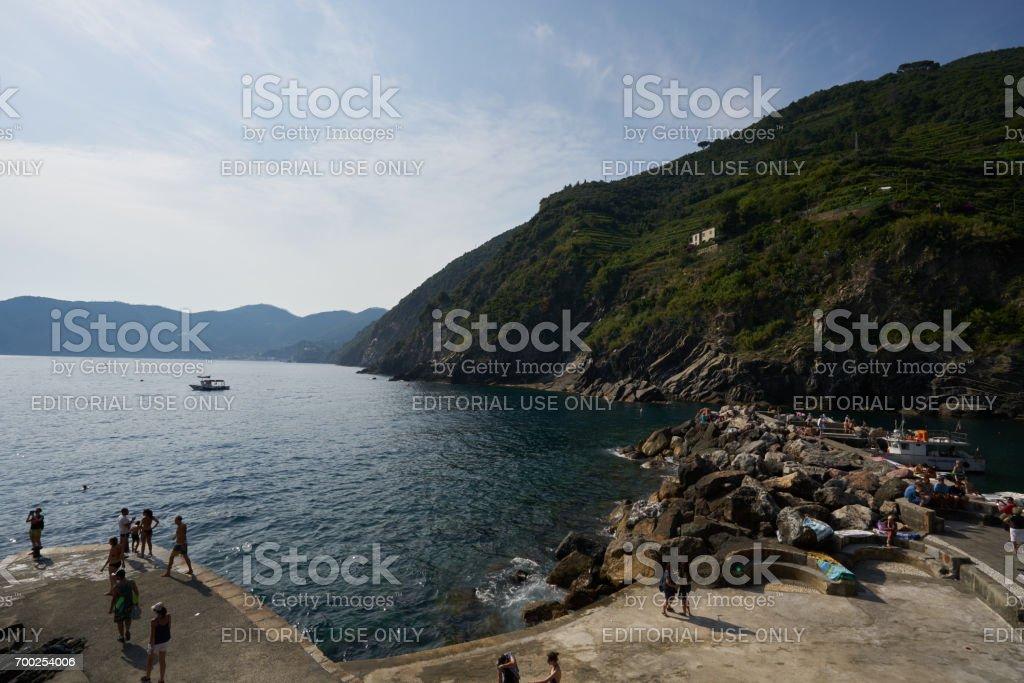 Vernazza Beach stock photo