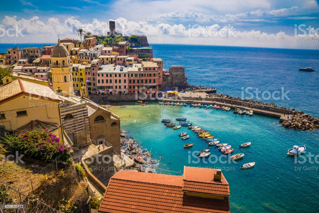 Vernazza - Cinque Terre, La Spezia, Liguria, Italy stock photo