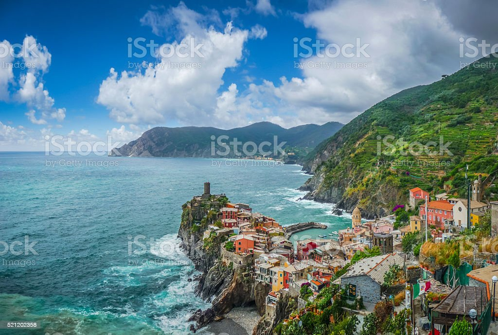 Vernazza, Cinque Terre, Liguria, Italy stock photo