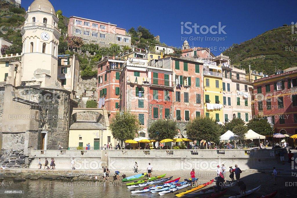 Vernazza on the Cinque Terre, Italy stock photo