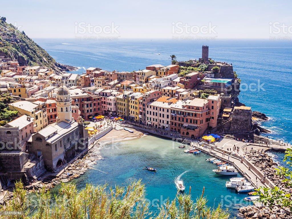 Vernazza View From Above stock photo