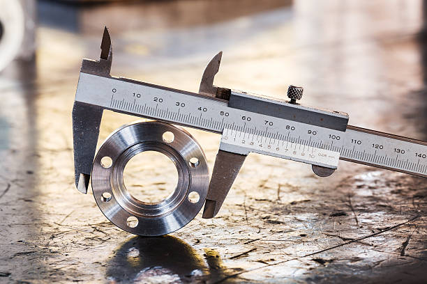 vernier caliper measurement stock photo