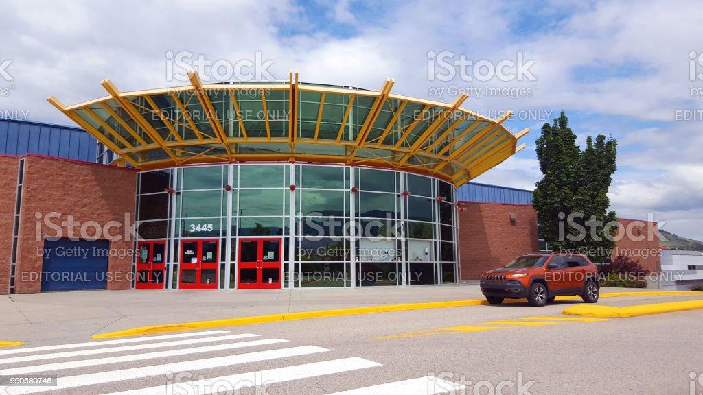 Vernon's Modern Multi-Purpose Sports Arena stock photo