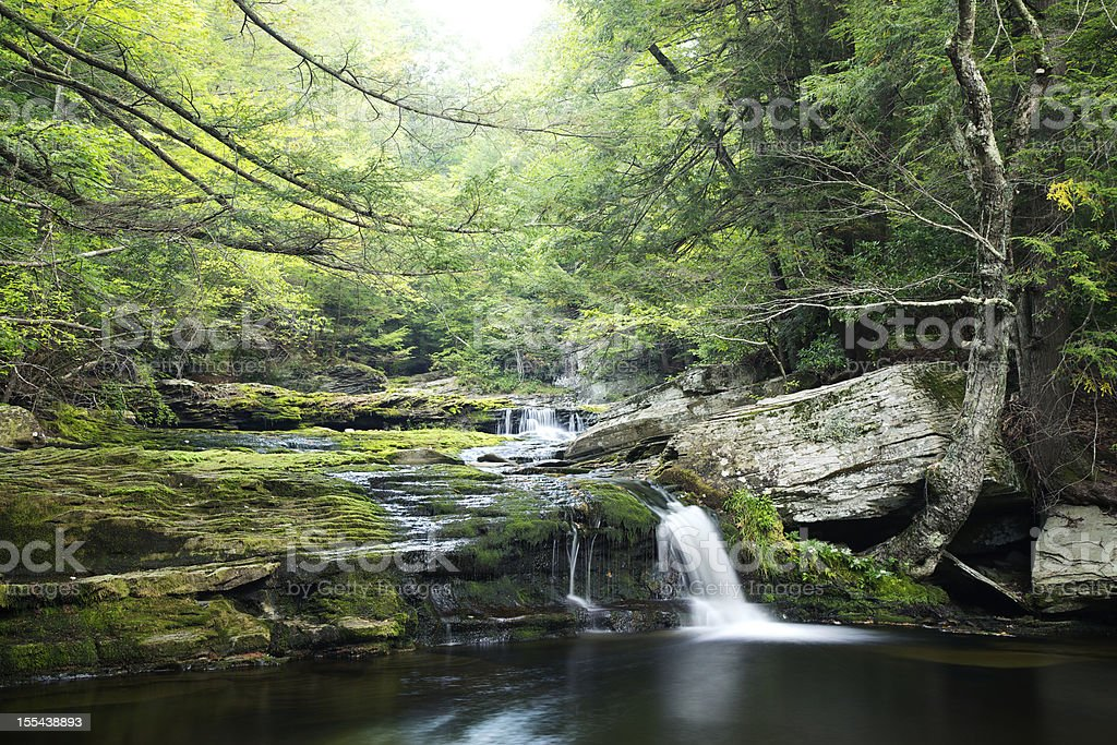Vernooy Kill Falls Waterfall in  Catskill Mountains stock photo