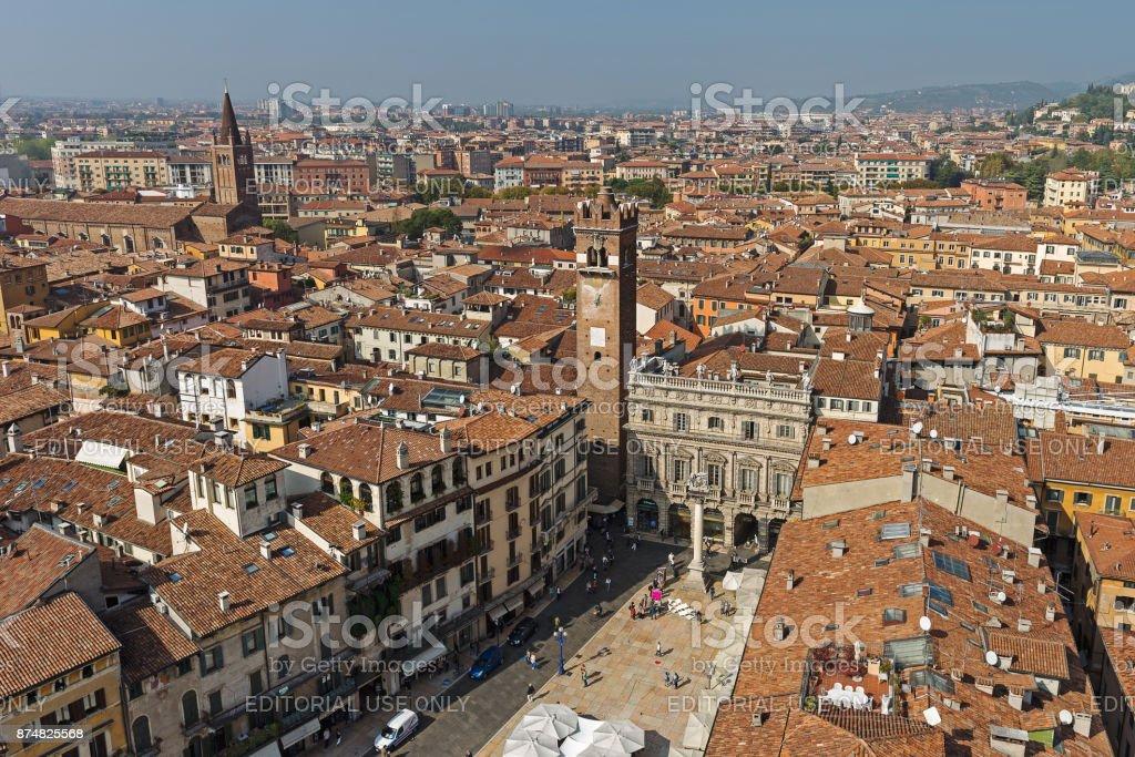 Verona aerial view stock photo