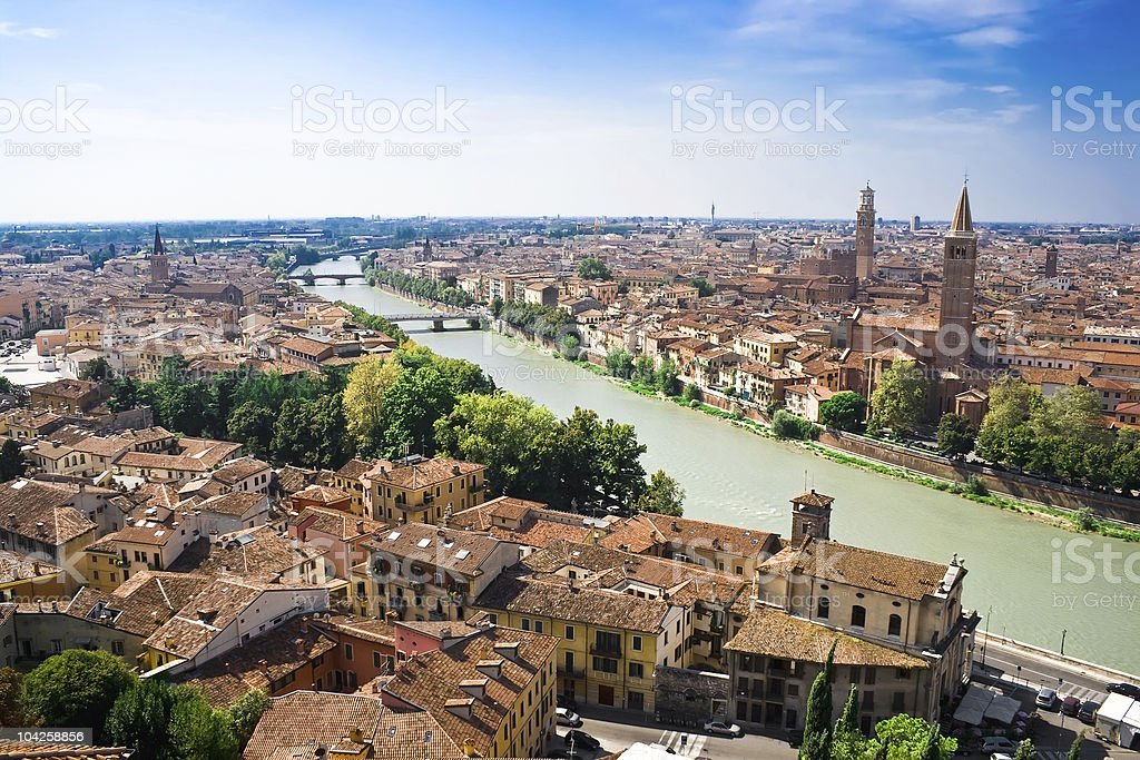 Verona and Adige River royalty-free stock photo