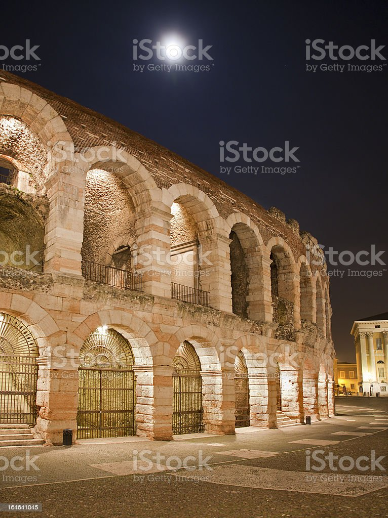 Verona - Arena at night royalty-free stock photo