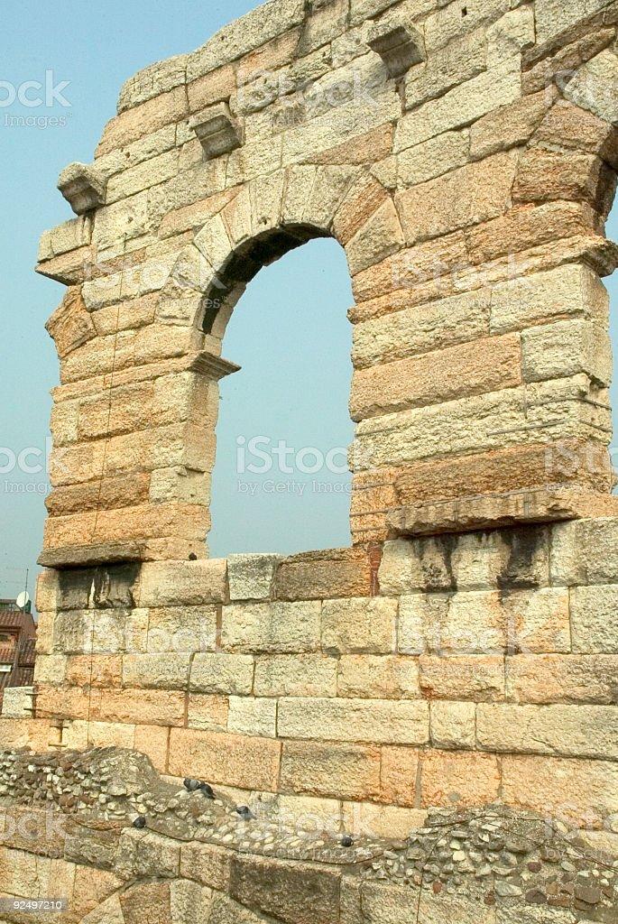 Verona Arena Detail Italy royalty-free stock photo