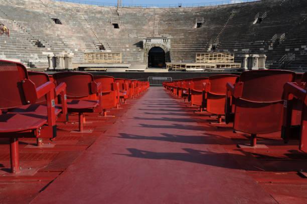 Verona Arena in a beautiful summer day in Verona, Italy stock photo