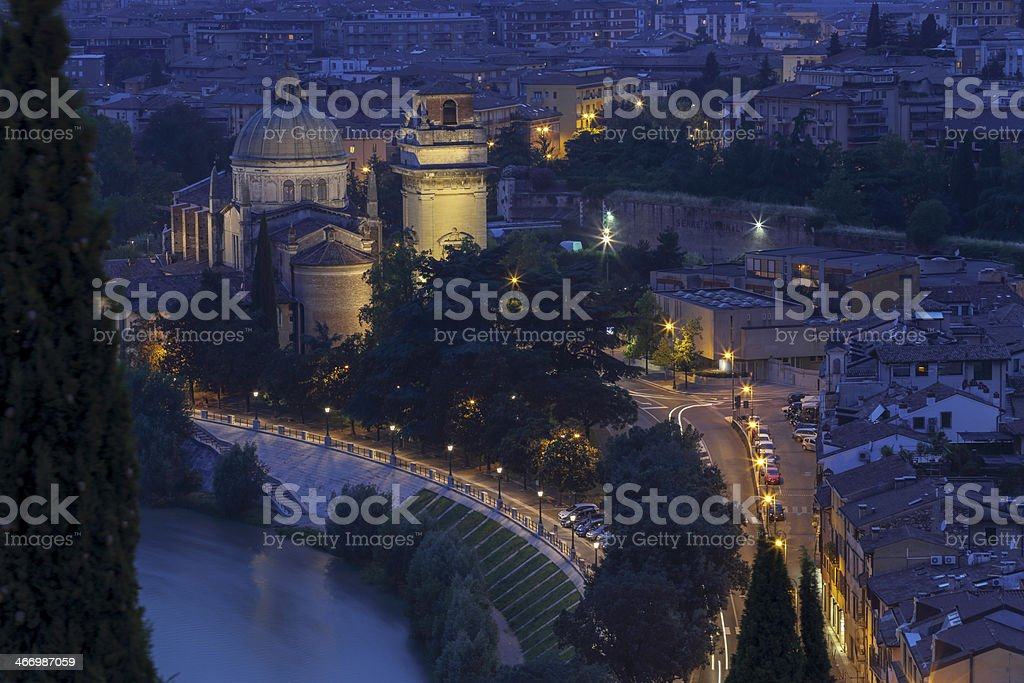 Verona at night royalty-free stock photo