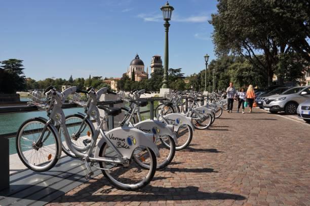 Verona - City cycles stock photo