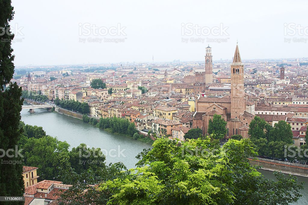 Verona cityscape from above royalty-free stock photo