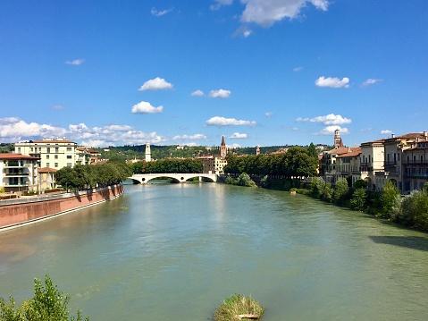 Verona is a city on the Adige River in Veneto, Italy.