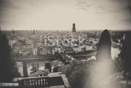 Italy, Verona - Italy, Cityscape, Cathedral, Church, vintage