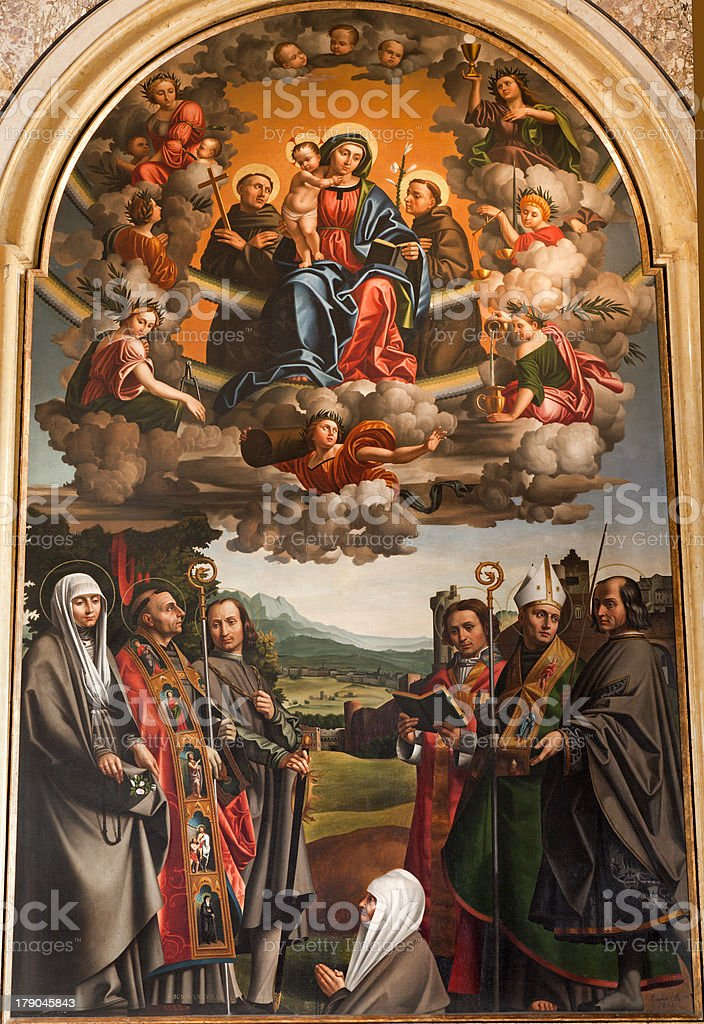 Vérone-Madonna et des saints de San Bernardiono Église - Photo