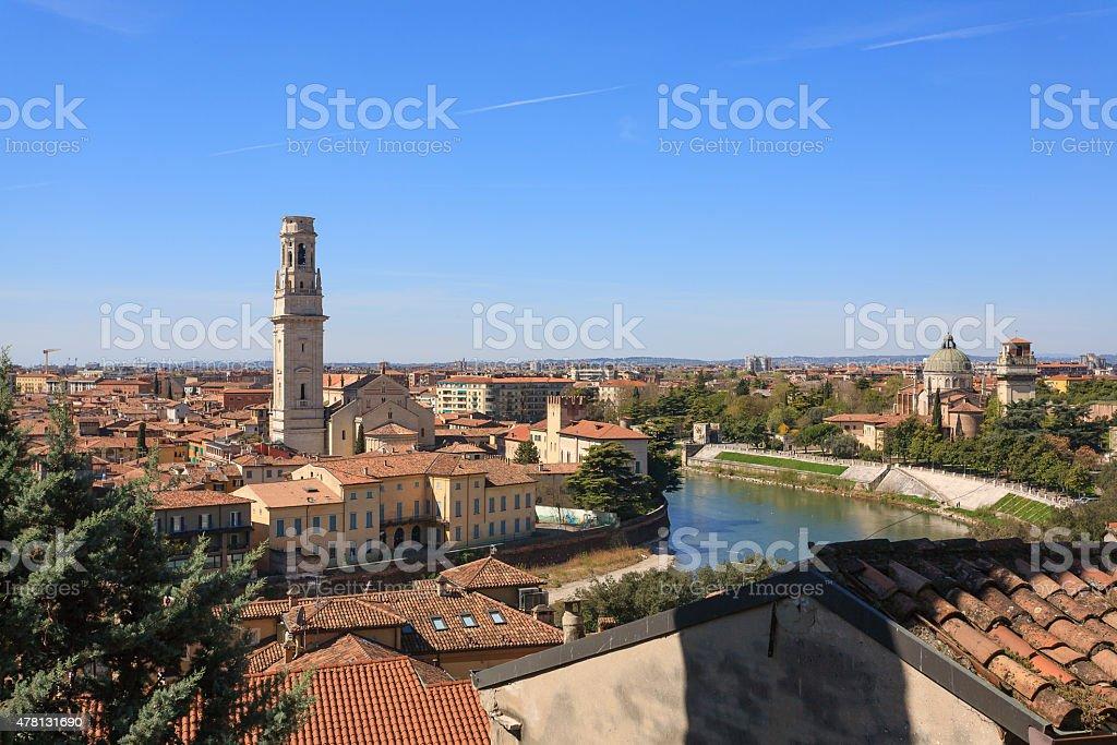 Verona panorama Italy stock photo