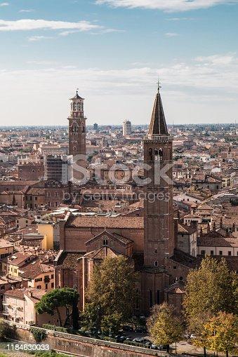 Verona on the Adige river in Veneto, Italy