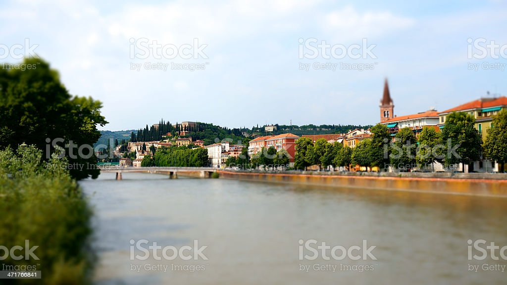 Verona - Tilt-shift photography of cityscape royalty-free stock photo