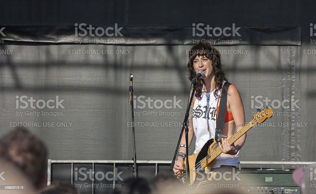 Veronica Sanchez in Concert royalty-free stock photo
