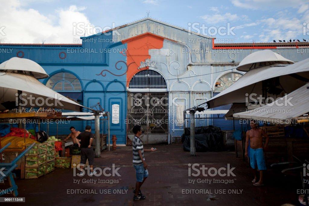 Ver-o-Peso Municipal Market in Belem stock photo