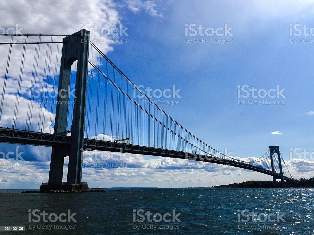Verrazano Bridge With Beautiful Skies stock photo