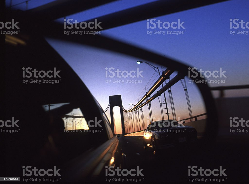 Verrazano in the mirror royalty-free stock photo