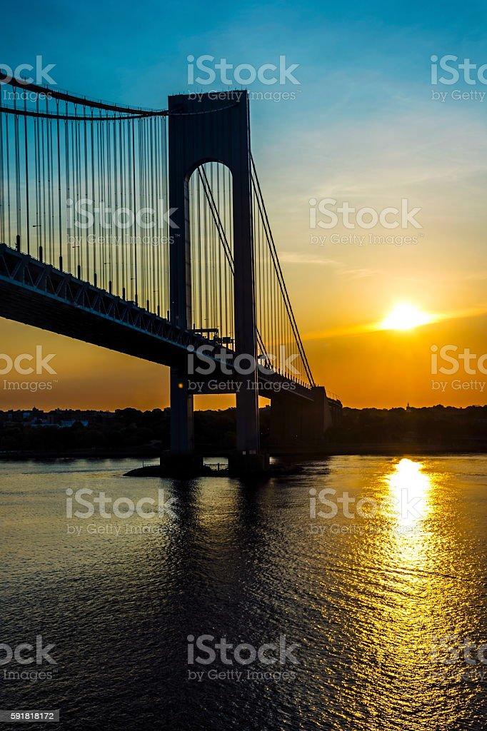Verrazano Sunrise stock photo