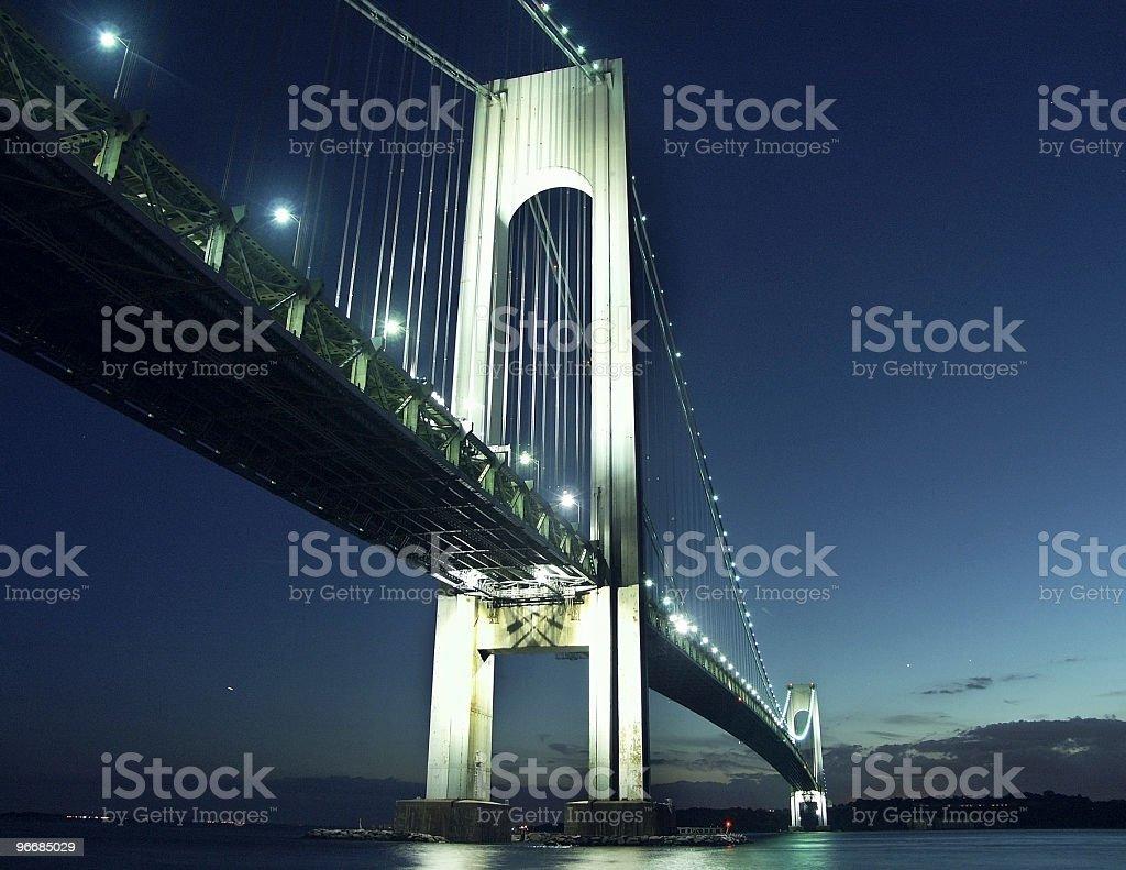 Verrazano-Narrows Bridge At Night stock photo