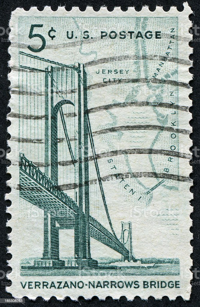 Verrazano-Narrows Bridge Stamps stock photo
