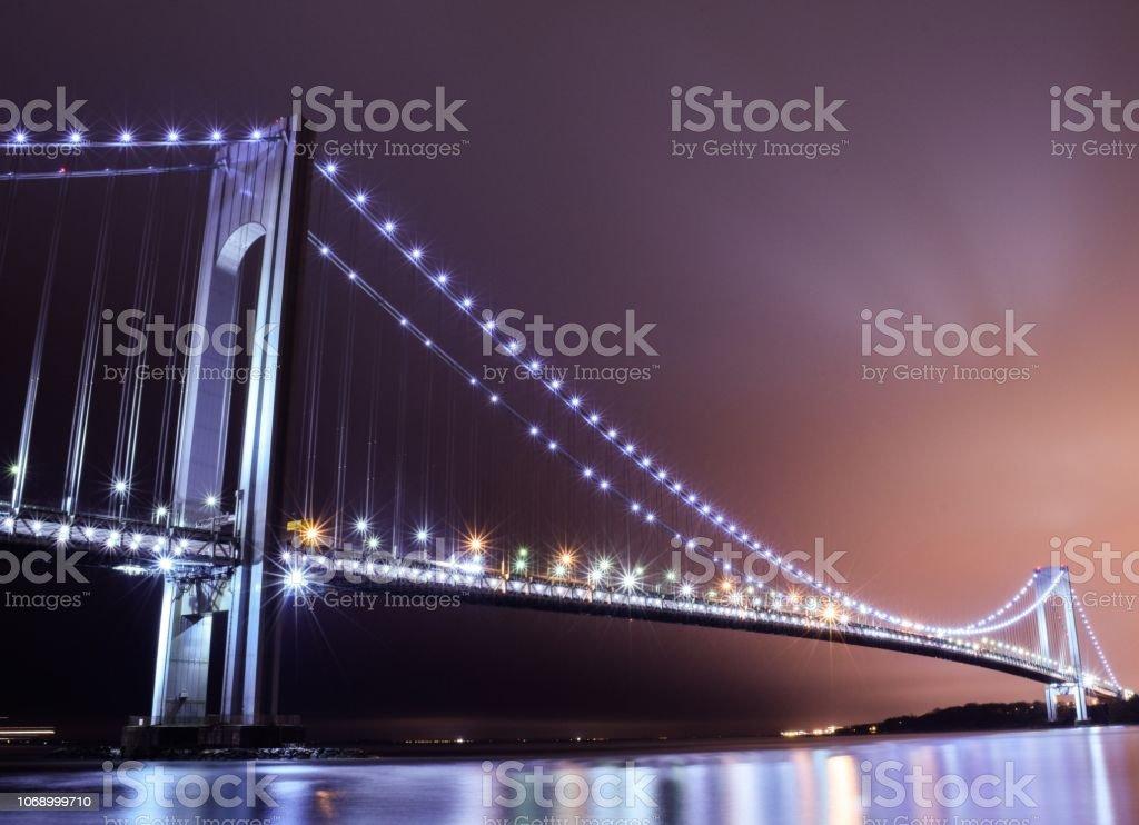 Verrazzano-Narrows Bridge, Brooklyn stock photo
