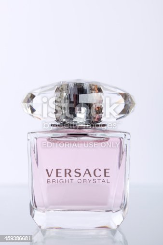 St. Louis, Missouri, USA - November 27, 2011: Versace Bright Crystal perfume on white background