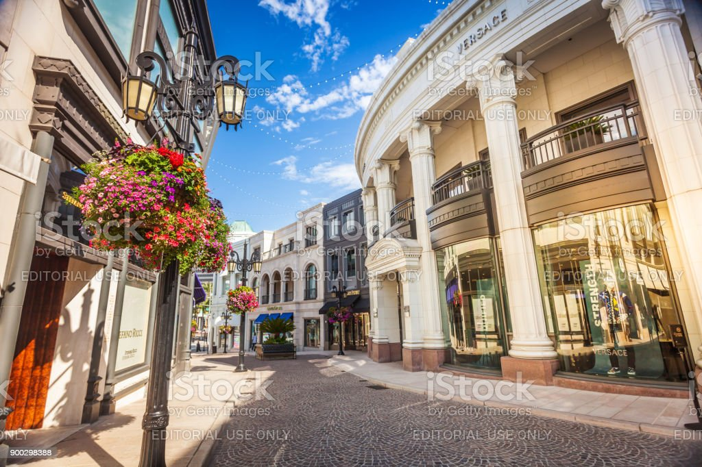 Versace shop on Rodeo Drive California stock photo