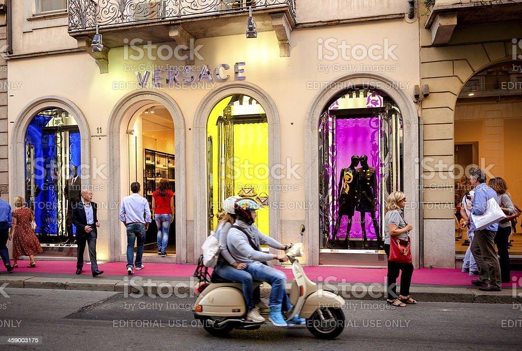 Versace Store-Milano, Italia - foto stock