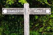 SIMPLE versus COMPLICATED directional signs