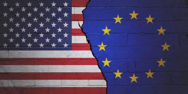 USA versus European Union stock photo