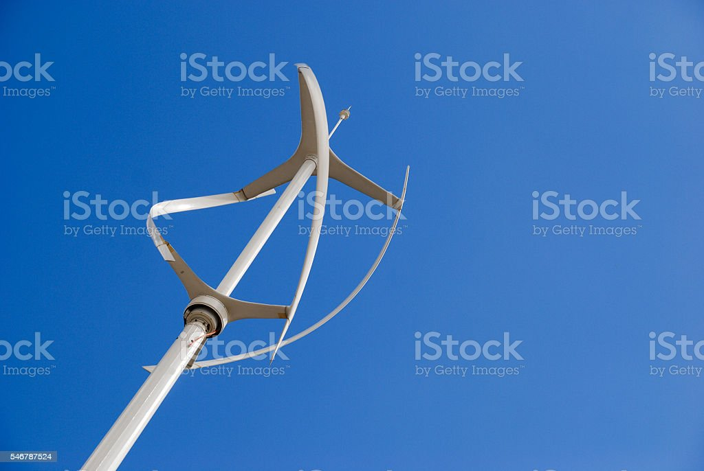 Vertical Axis Energy Wind Turbine Stock Photo & More Pictures of