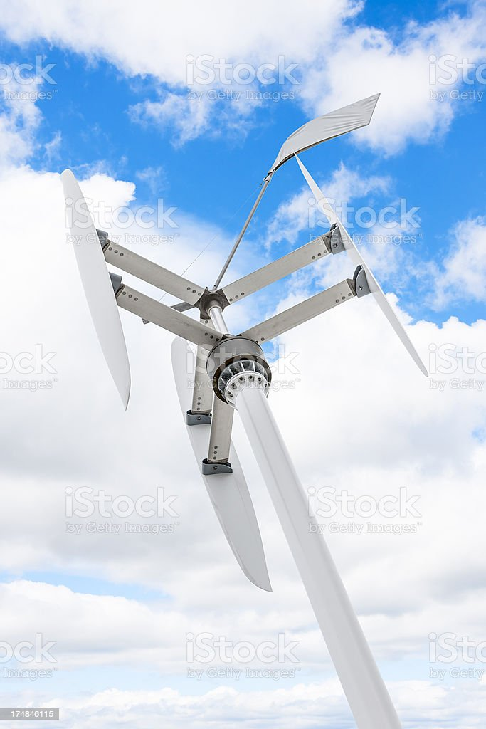 Vertical Axis Wind Turbine Stock Photo - Download Image Now