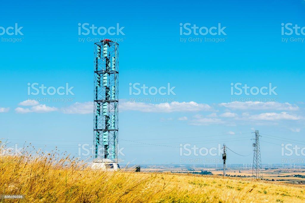 vertical axis wind turbines eolic energy stock photo