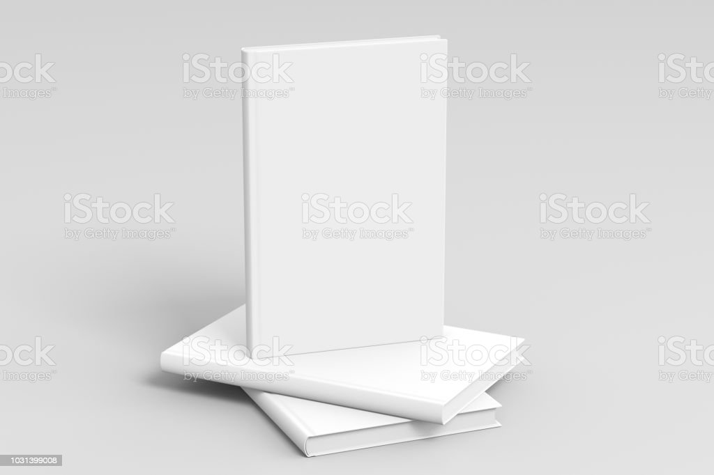 Vertical blank book cover mockup royalty-free stock photo