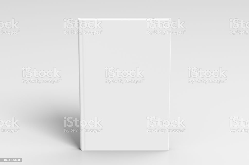 Vertical blank book cover mockup stock photo